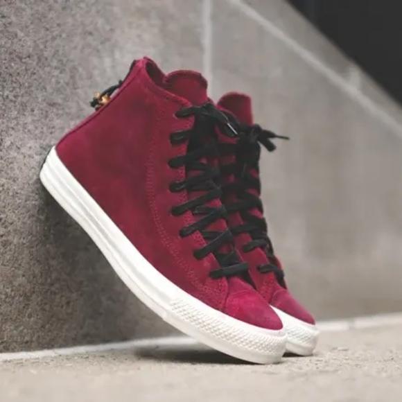 Converse, all star zip, red suede, size 10.5